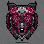 loup crinière étincelante